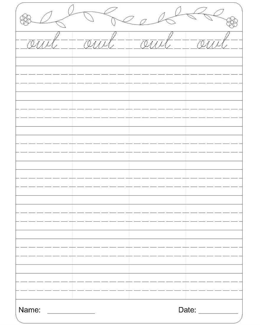 Printable Handwriting Sheets For Year 1 Proga Info