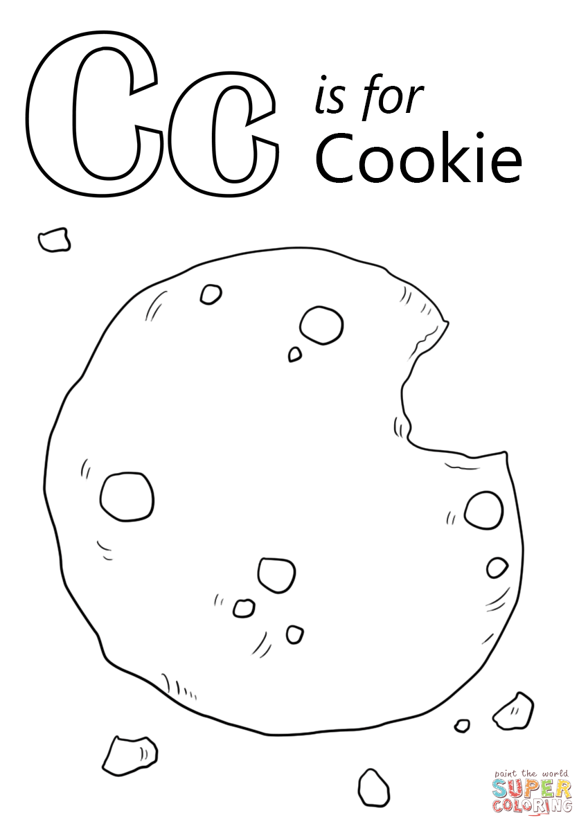 Letter C Is For Cookie Coloring Page