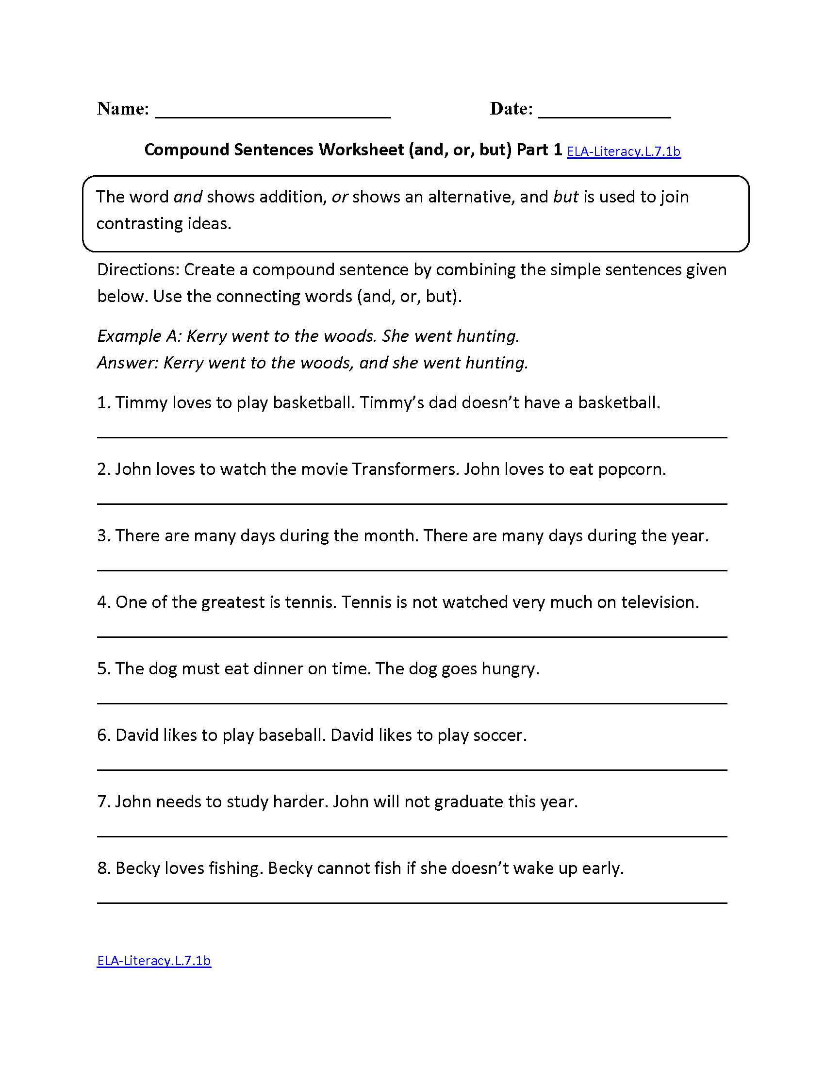 Math  7th Grade Language Arts Worksheets Printable  Worksheets For