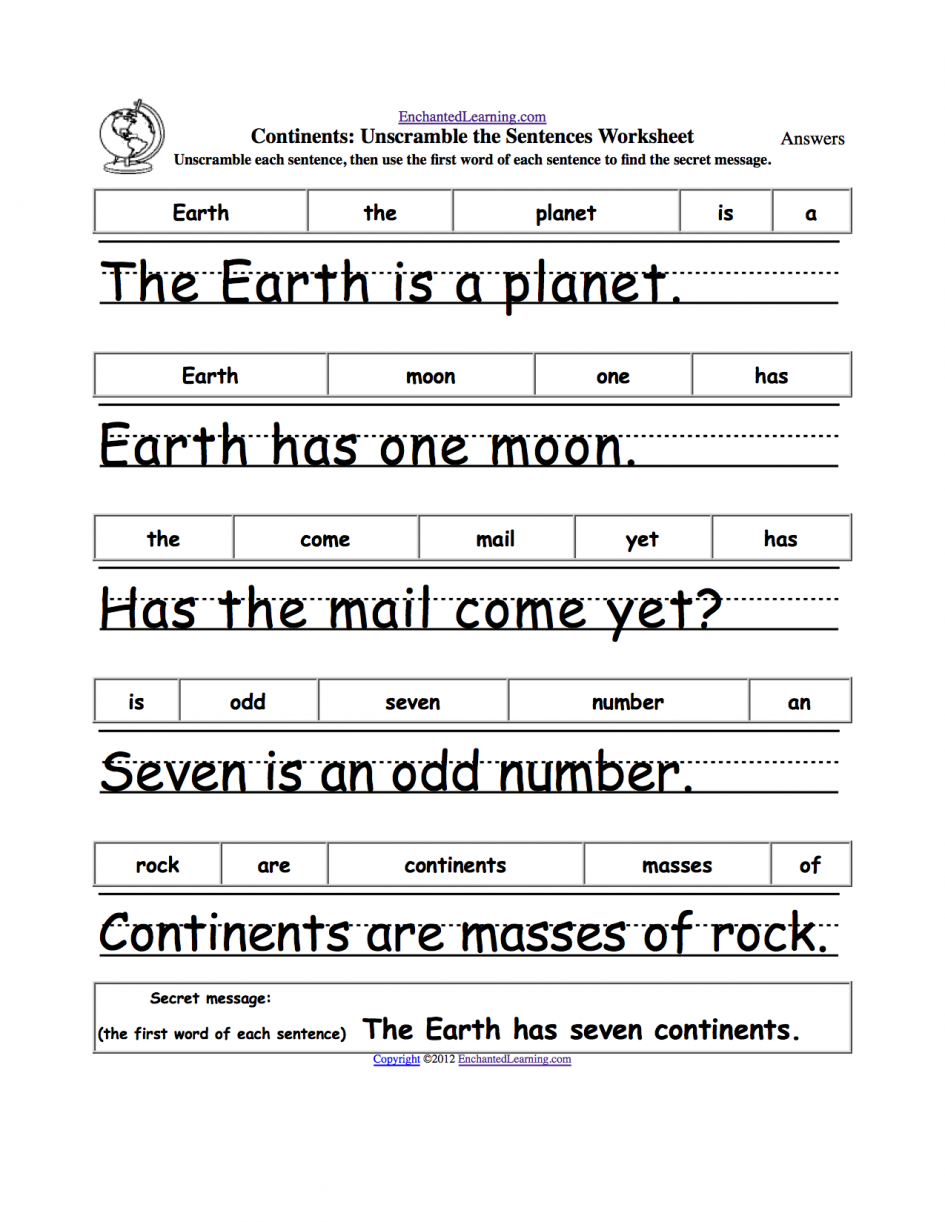 Math  Free Writing Worksheets For 1st Grade  Sentence Worksheets