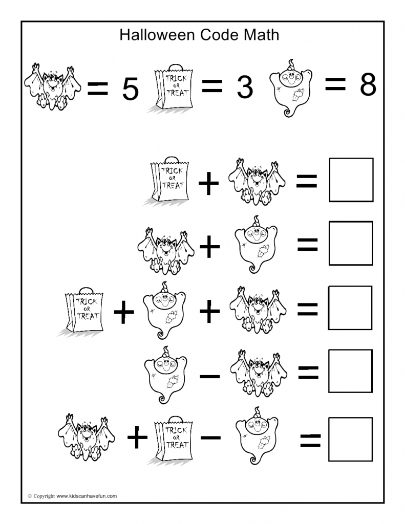 Math Halloween Worksheets Worksheets For All