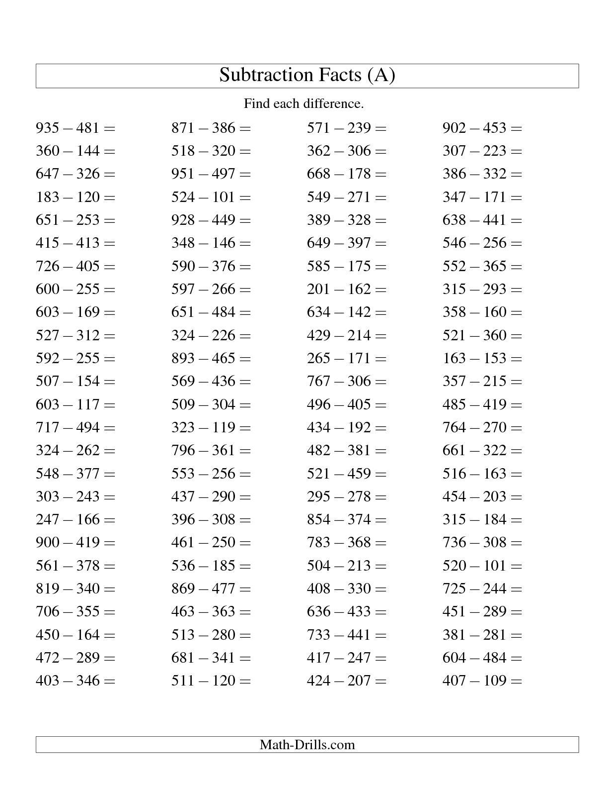 Math Worksheetfirst Grade Subtraction Worksheets Free Printable
