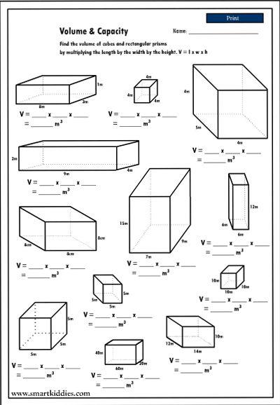 Maths Worksheets Ks3 Volume