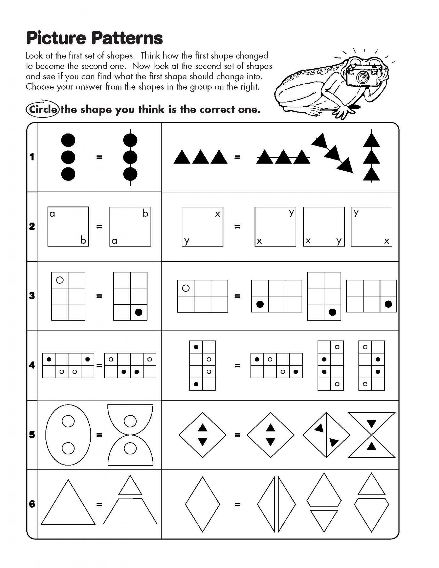 Mathts Pattern Maths One Attribute Shape Christmas Picture