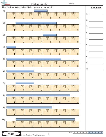 Measure With A Ruler Worksheet Worksheets For All