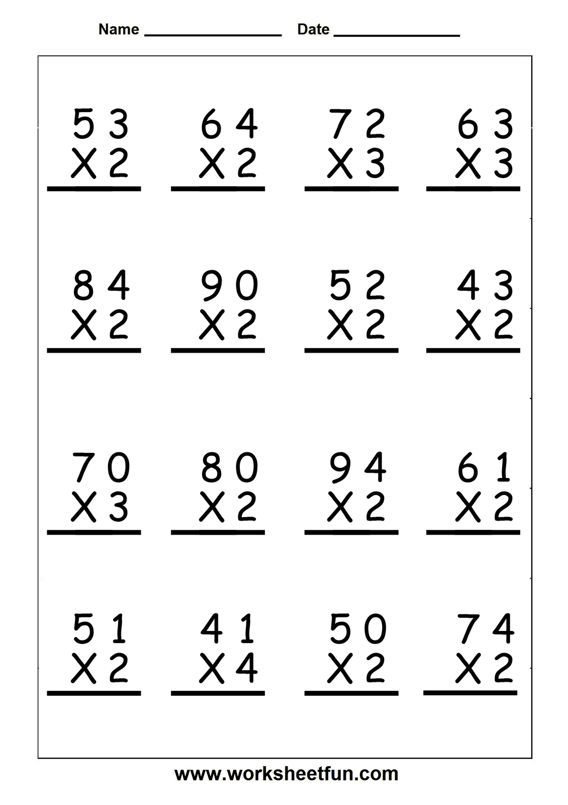 Multiplication Word Problems Grade 5 Worksheet Examples