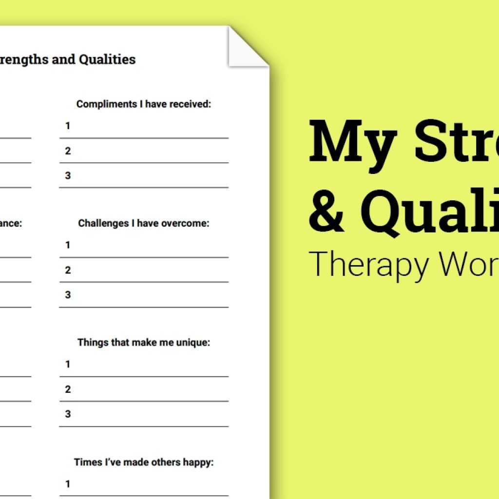 My Strengths And Qualities (worksheet)