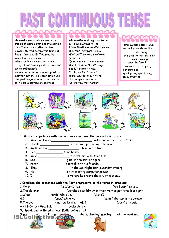 worksheet Present And Past Tense Worksheets Pdf past continuous tense worksheets pdf