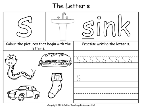 Letter S Worksheet For Kindergarten Heartpulsar