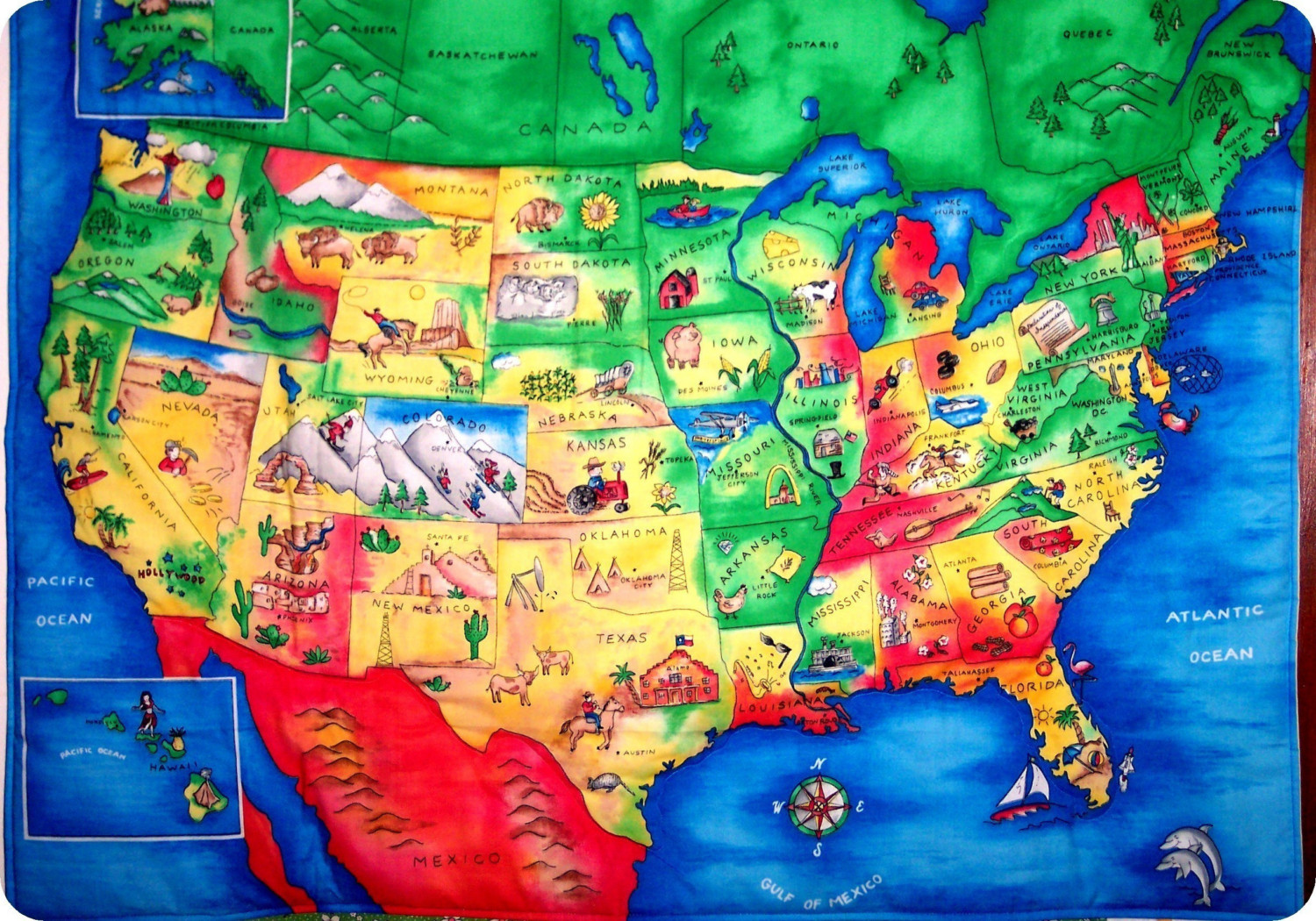 Placemutts Usa Placemat Map For Kids Jimapco  Kids Maps U S Map