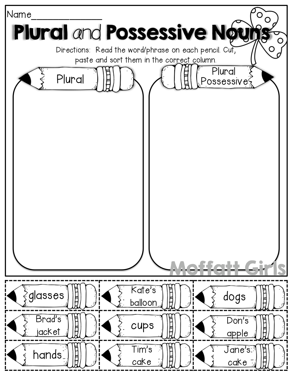 Plural And Possessive Nouns (cut And Paste) …