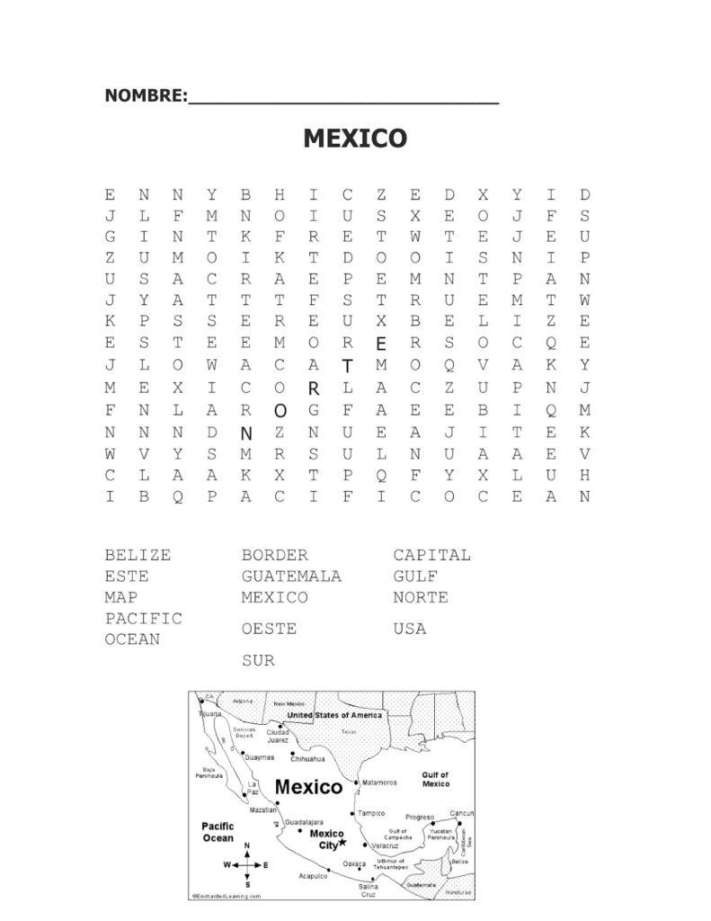 Primary Spanish Spanish Vocabulary Worksheets For High School