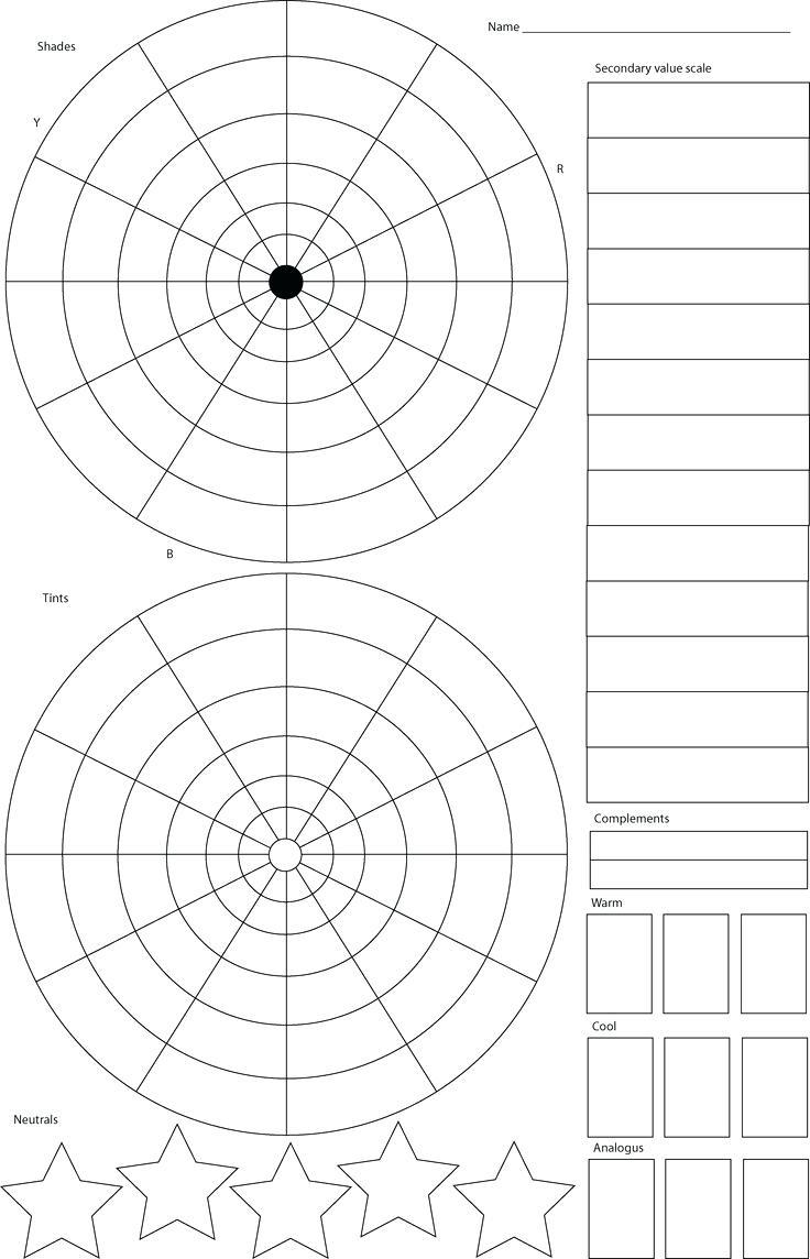 Printable  Printable Blank Color Wheel Template