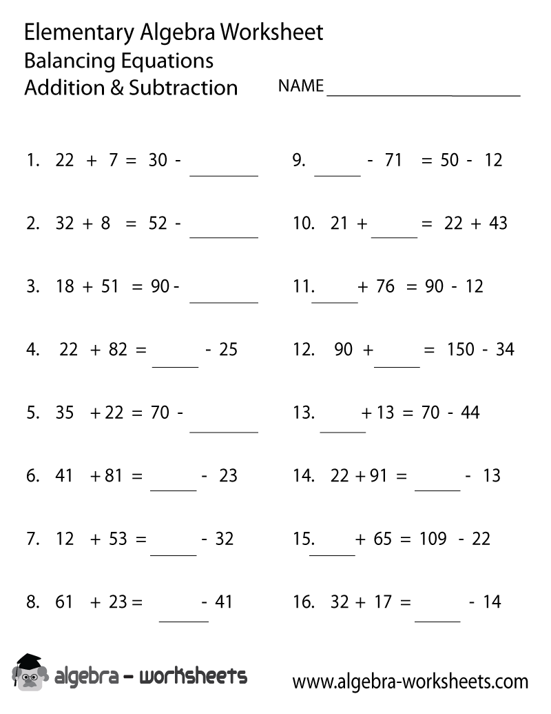 Printable Math Addition And Subtraction Worksheets   Kelpies