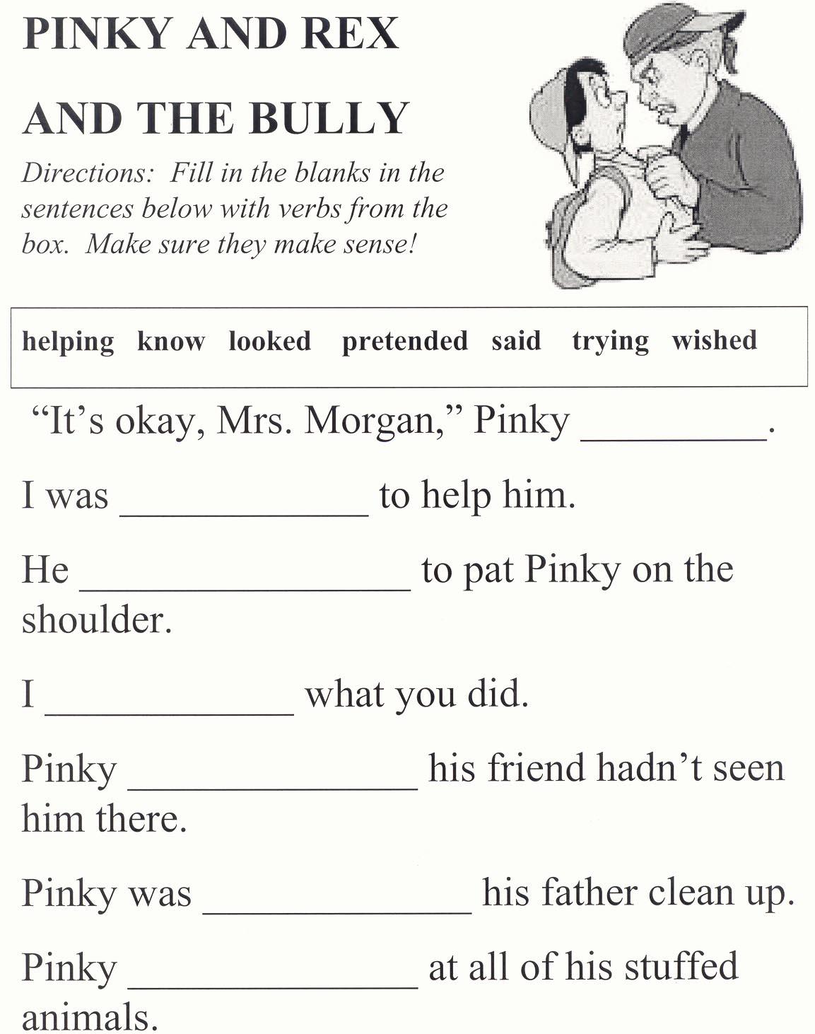 Printables  Anti Bullying Worksheets  Kigose Thousands Of