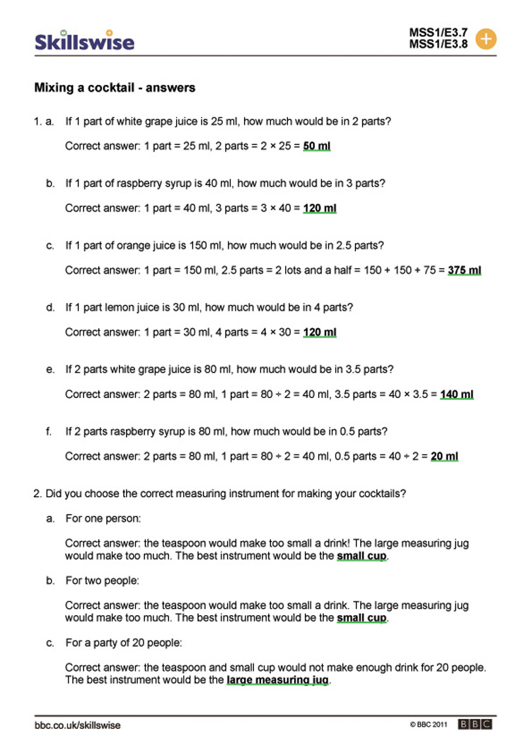 Ratio And Proportion Worksheets Worksheets For All