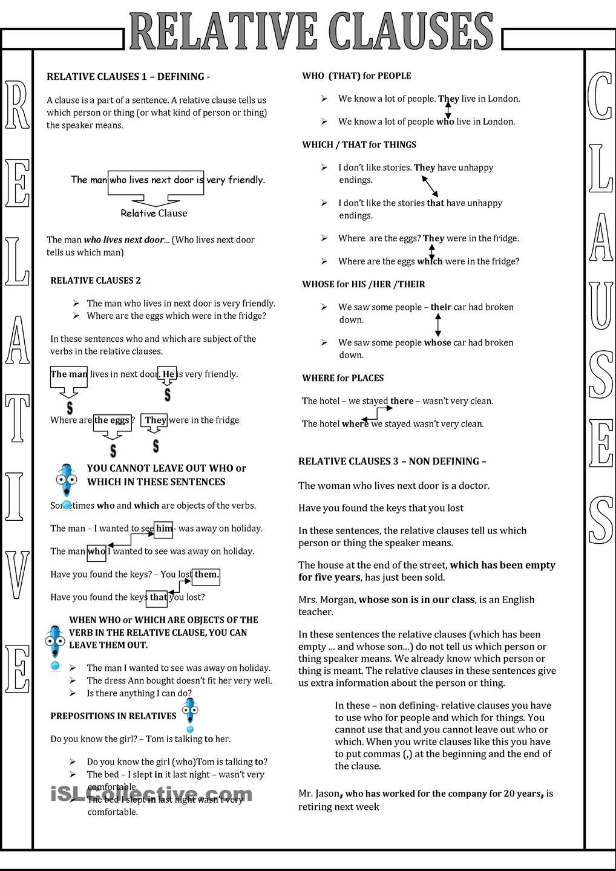 worksheet Relative Pronoun Worksheet relative pronouns worksheets pdf