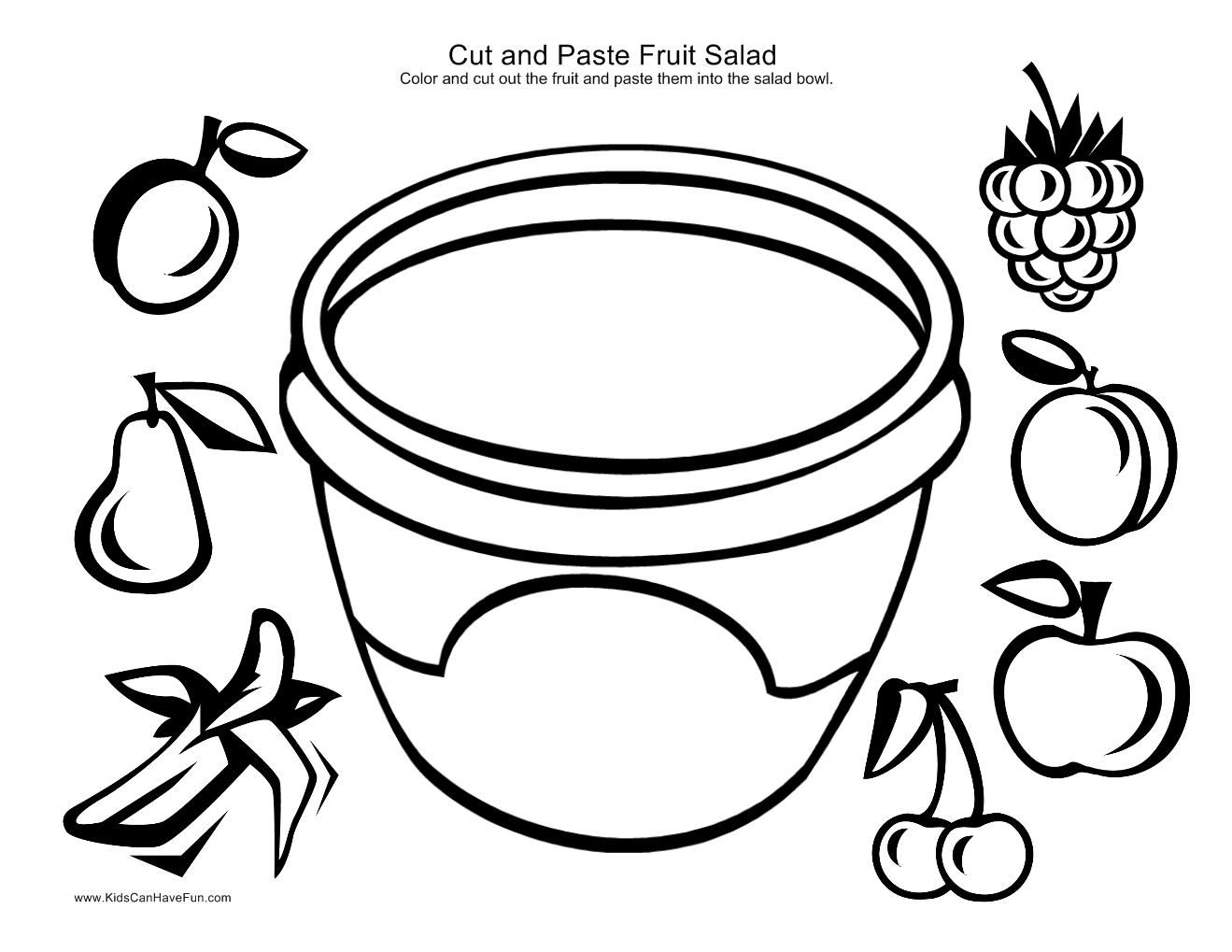 Salad Clipart Coloring