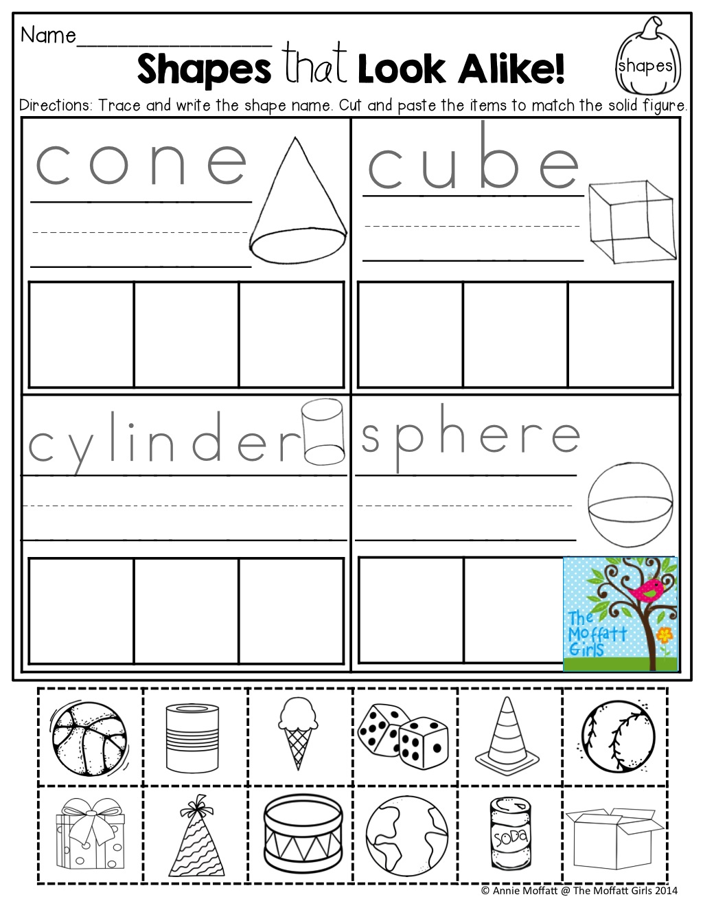 Shapes (cut And Paste)! Tons Of Fun Printables!