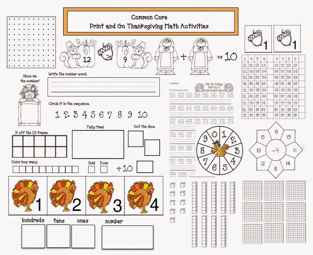 Thanksgiving Printable Math Worksheets 2nd Grade Common ...