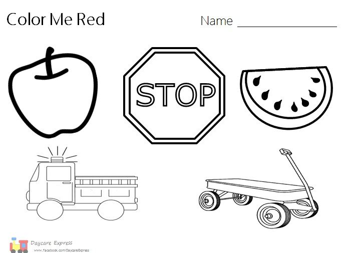 Things The Color Red Worksheet Preschool  Things  Best Free