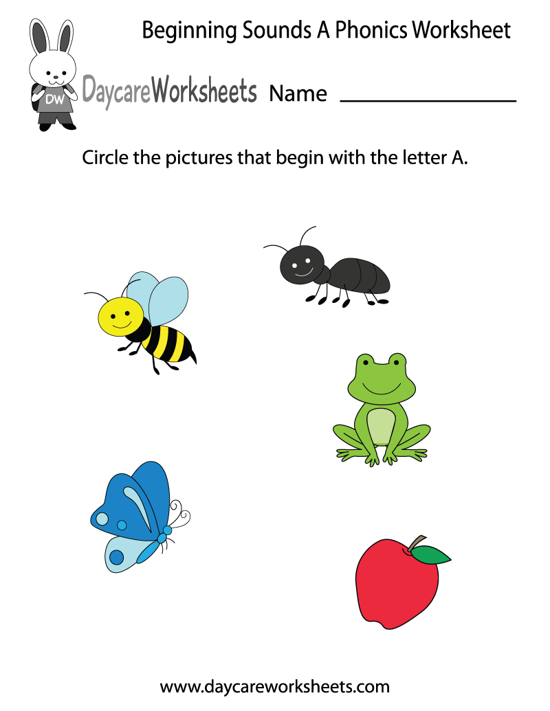 This Letter A Phonics Worksheet Helps Preschoolers Identify The