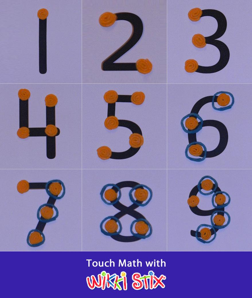 Touch Math Using Wikki Stix Manipulatives