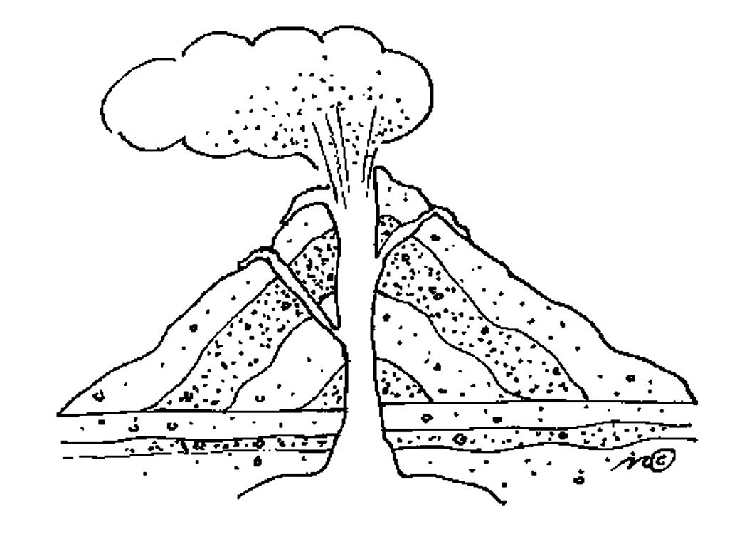 Volcano diagram worksheets ccuart Gallery