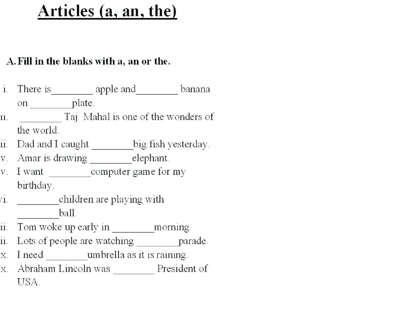 Worksheet  1st Grade Fill In The Blank Worksheets For Kindergarten