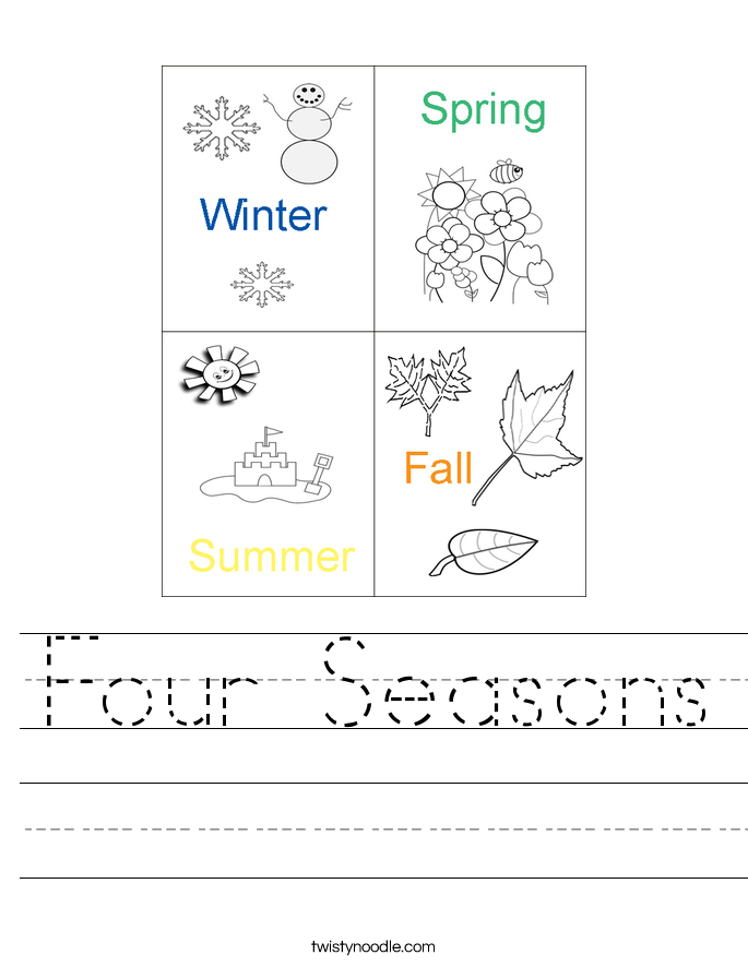 Worksheet  517400  Four Seasons Worksheets For Kindergarten