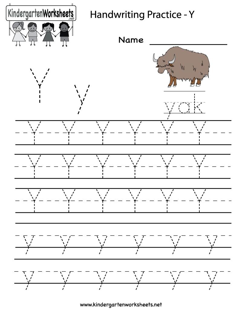 Worksheet  8001035  Letter Y Worksheets For Kindergarten