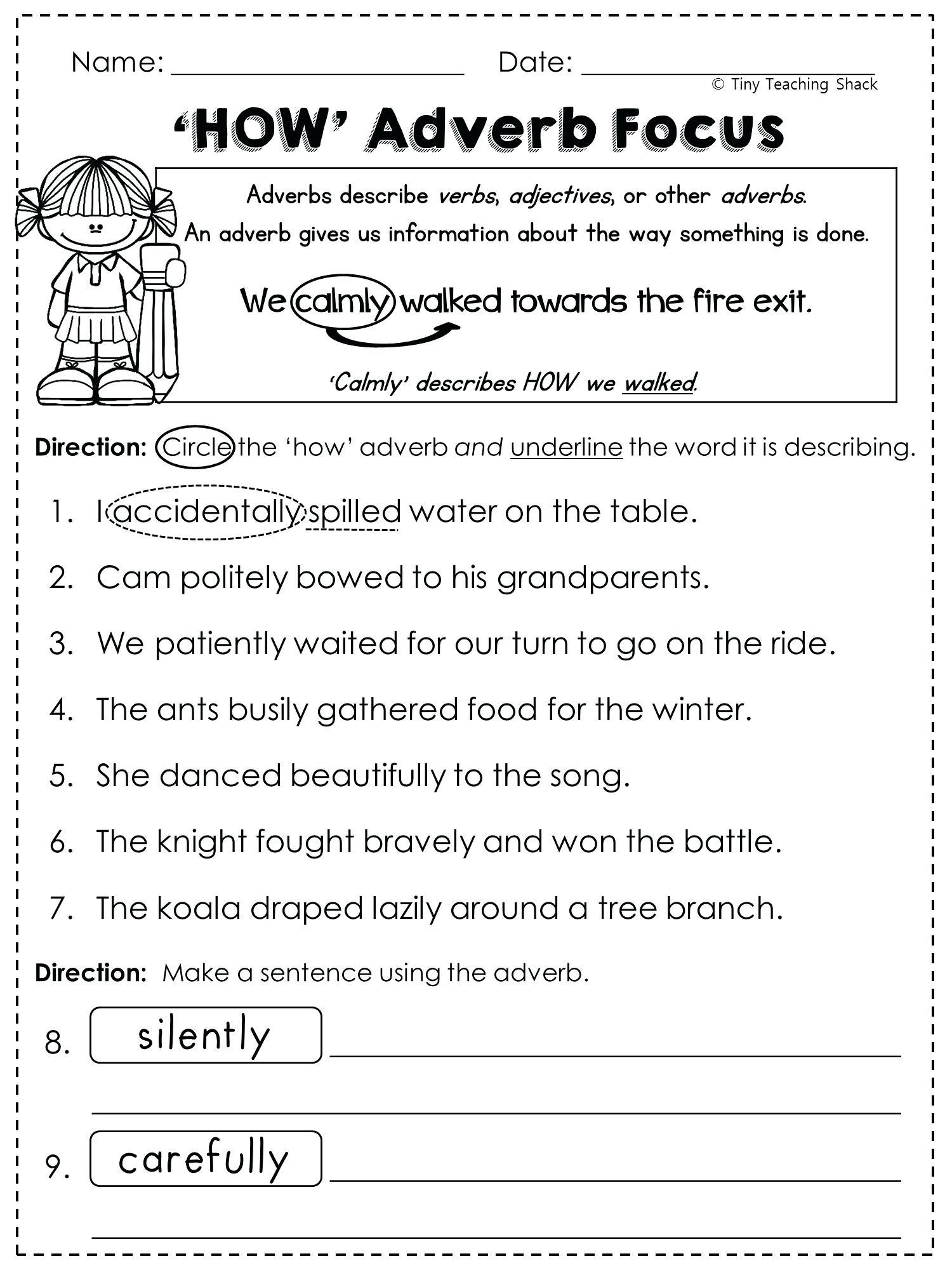 Worksheet  Adding Adjectives Worksheets Worksheet  Adding