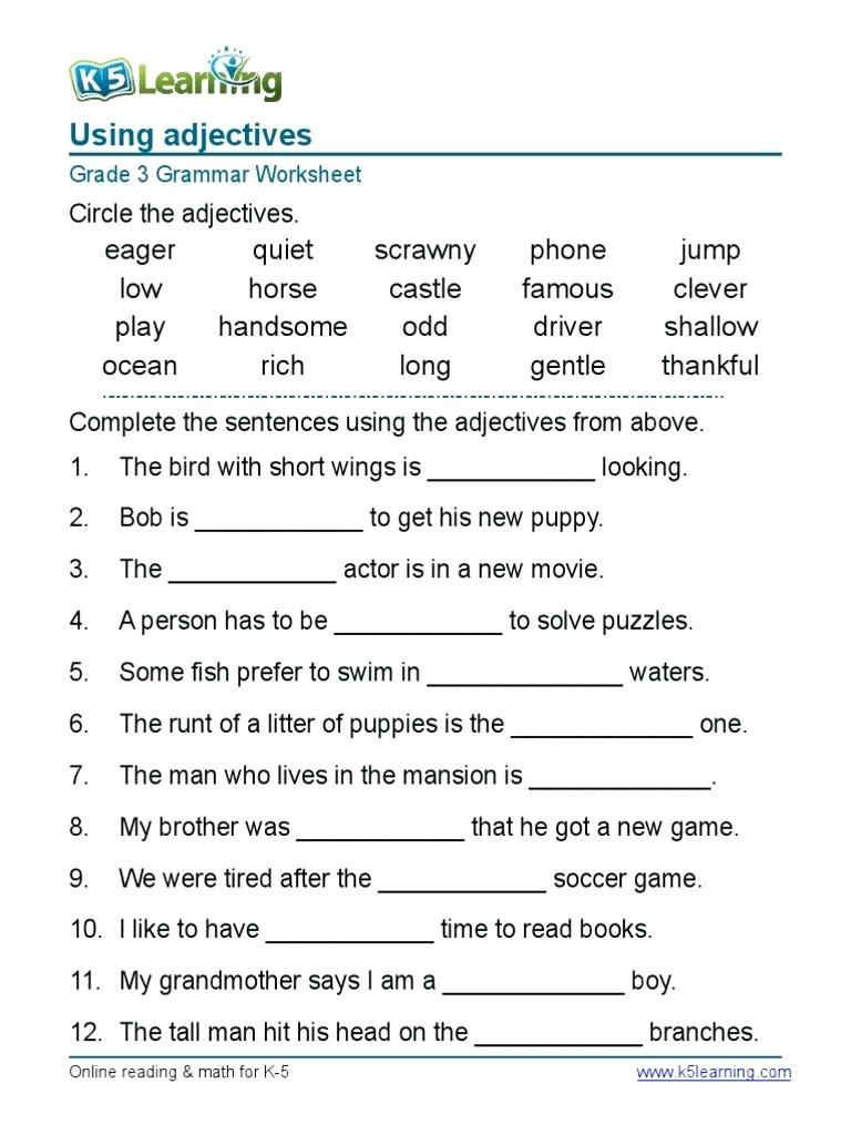 Worksheets Grade 4 English Worksheets worksheet english grammar worksheets for grade 4 samples dimensions published in english