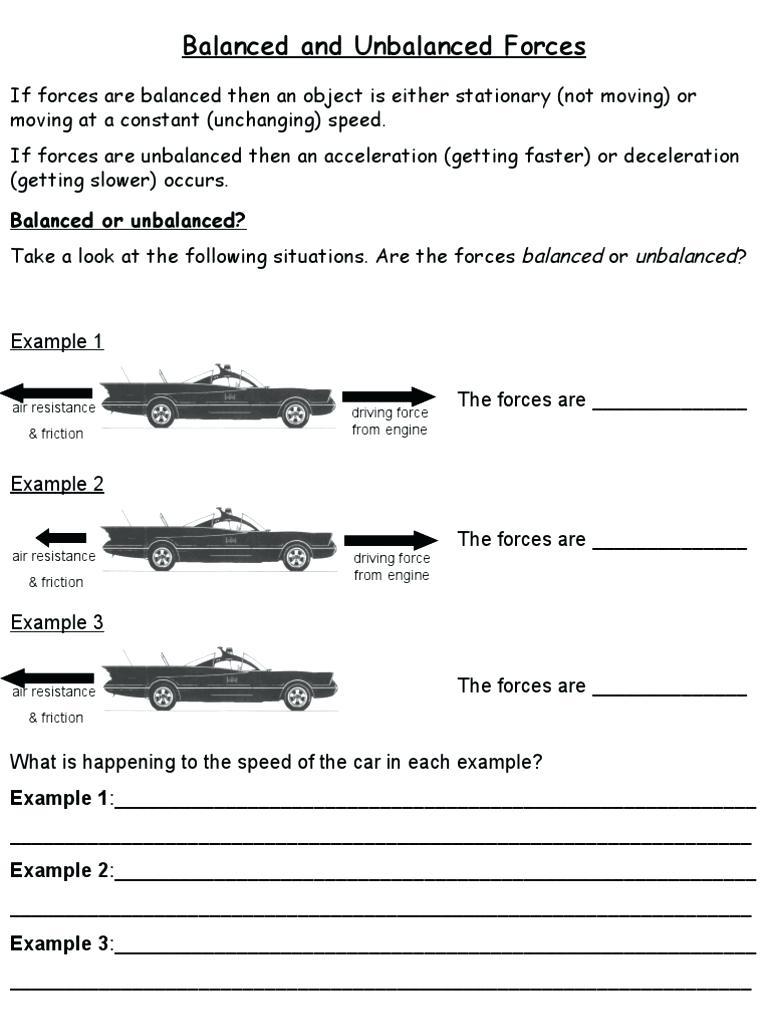 Forces Worksheets Ks1