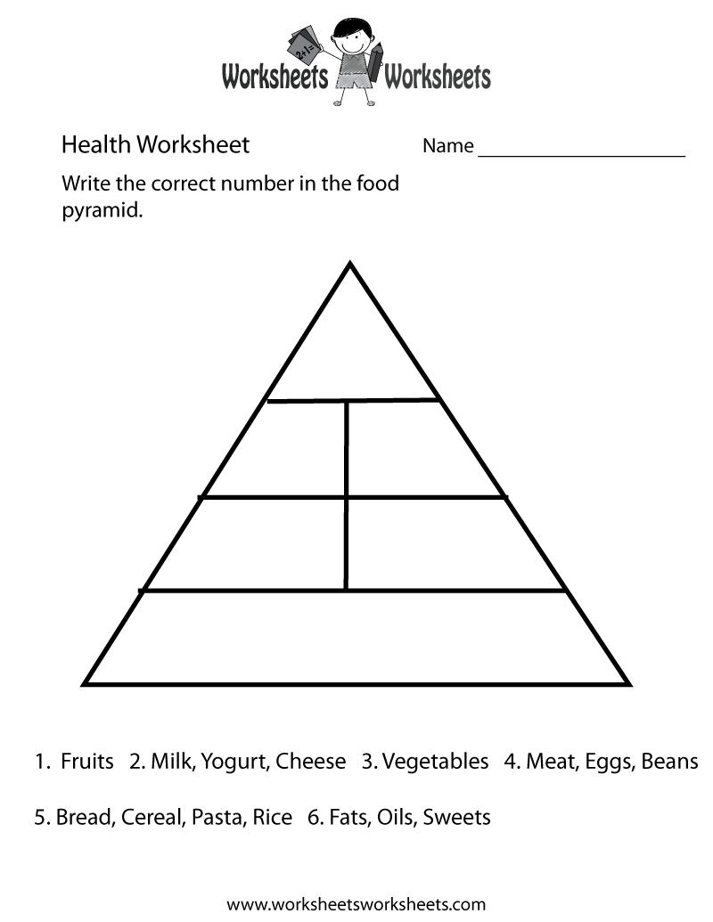 Worksheets  Food Guide Pyramid Worksheets  Christopherjoel Free