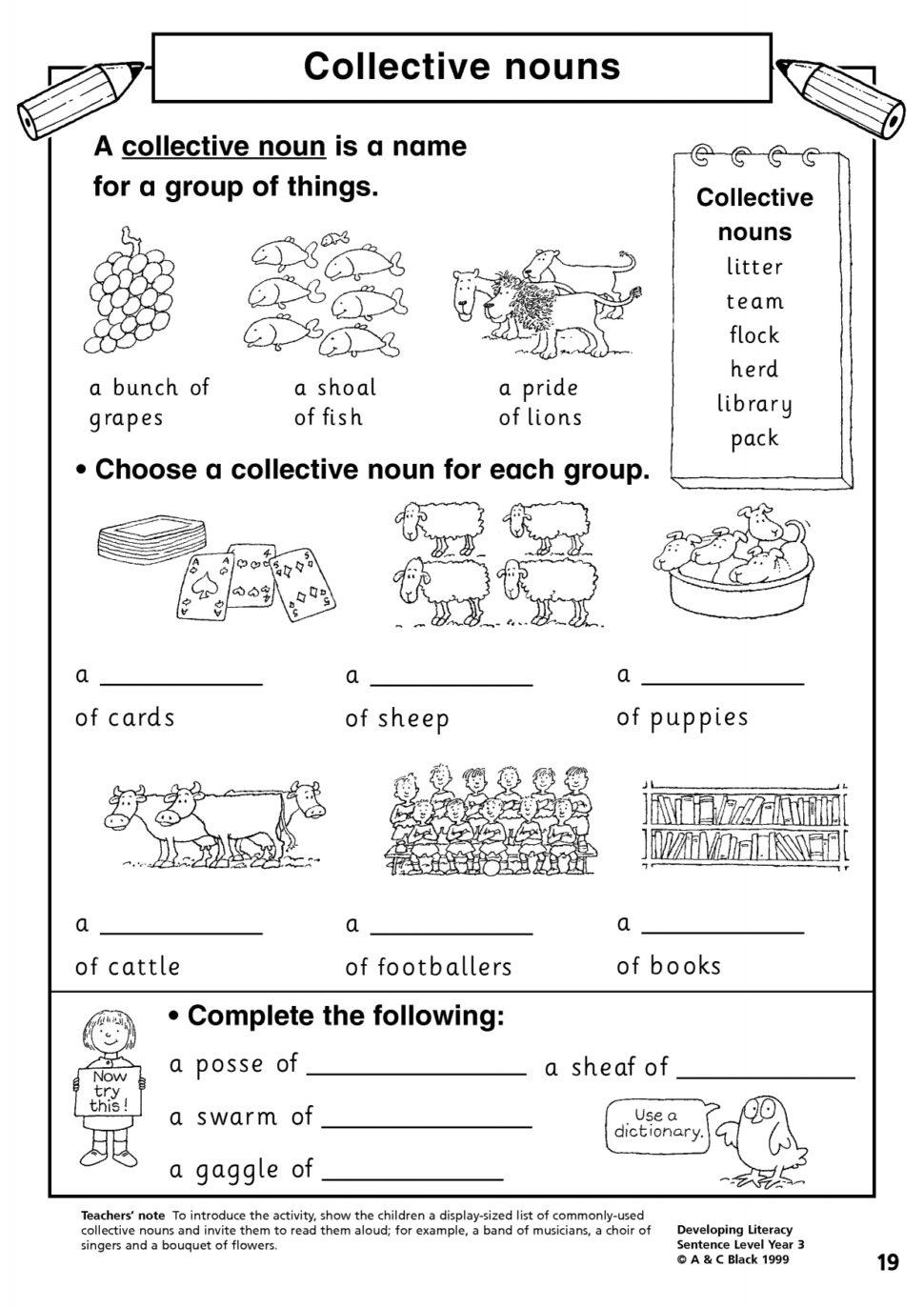 nouns worksheets for grade 2. Black Bedroom Furniture Sets. Home Design Ideas