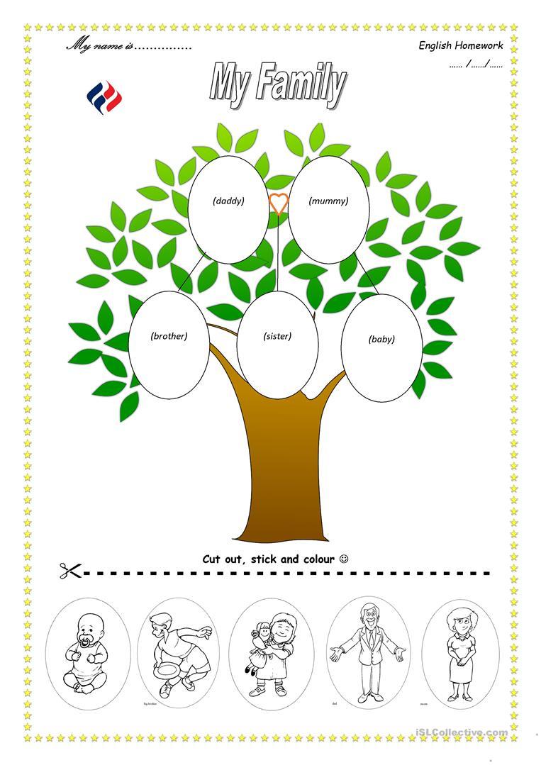 103 Free Esl Family Tree Worksheets