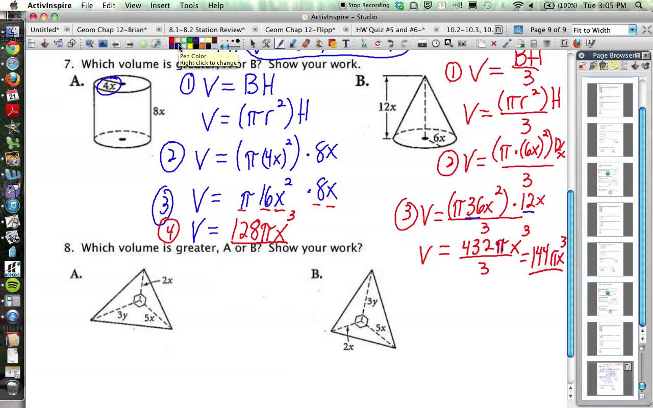 10 210 310 6 Geometry Volumes Of Prisms Cylinders Cones ...