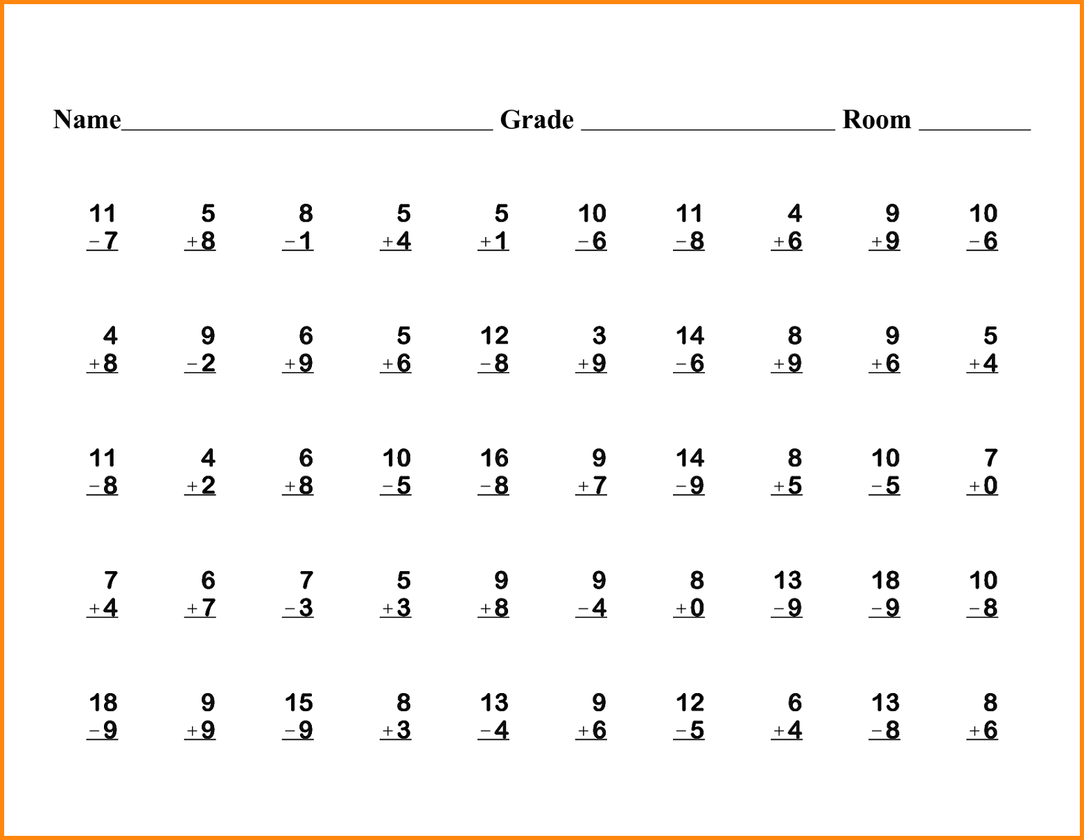 1st Grade Printable Math Worksheets Worksheets For School