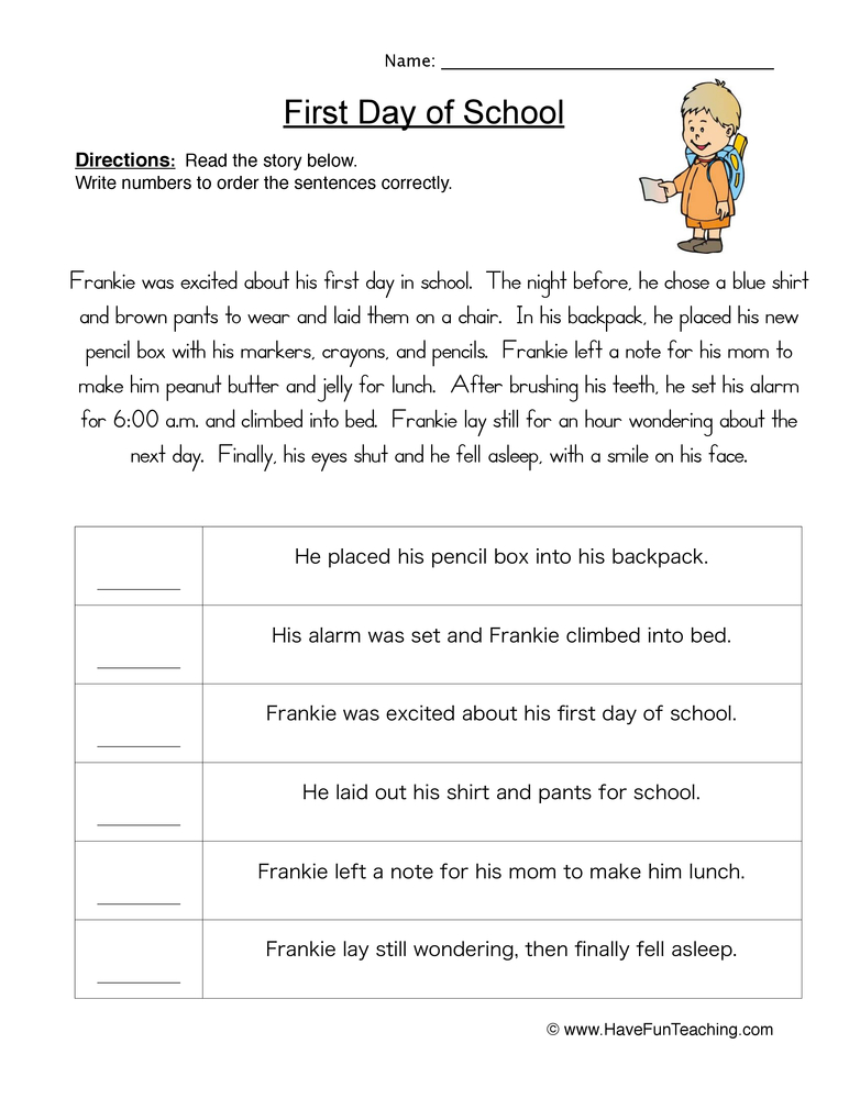 21 Sequence Of Events Worksheet Primary – Designbusiness Info