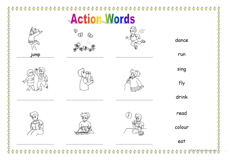 25 Free Esl Action Words Worksheets