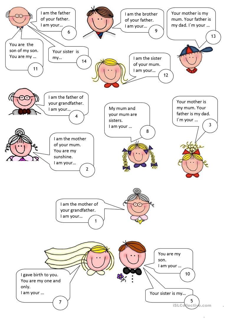 31 Free Esl Family Relations Worksheets