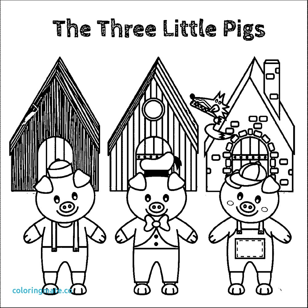 3 Little Pigs Coloring Page Three Little Pigs Coloring Pages New