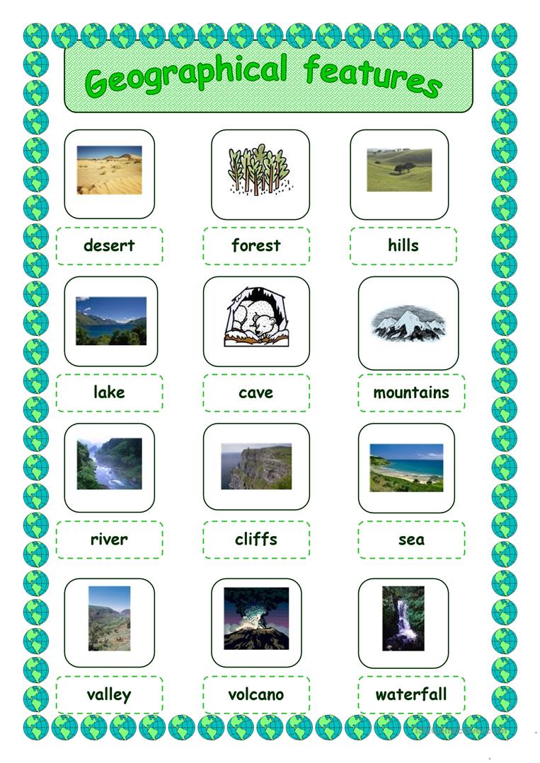 5 Free Esl Geographical Features Worksheets
