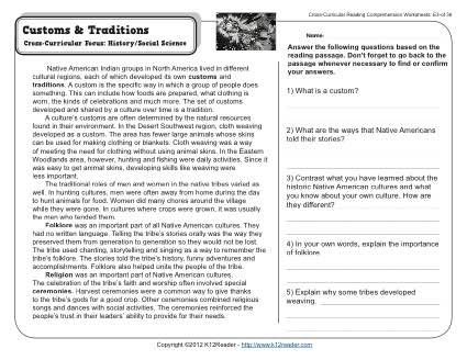 7th Grade Reading Comprehension Worksheets With Answers The Best