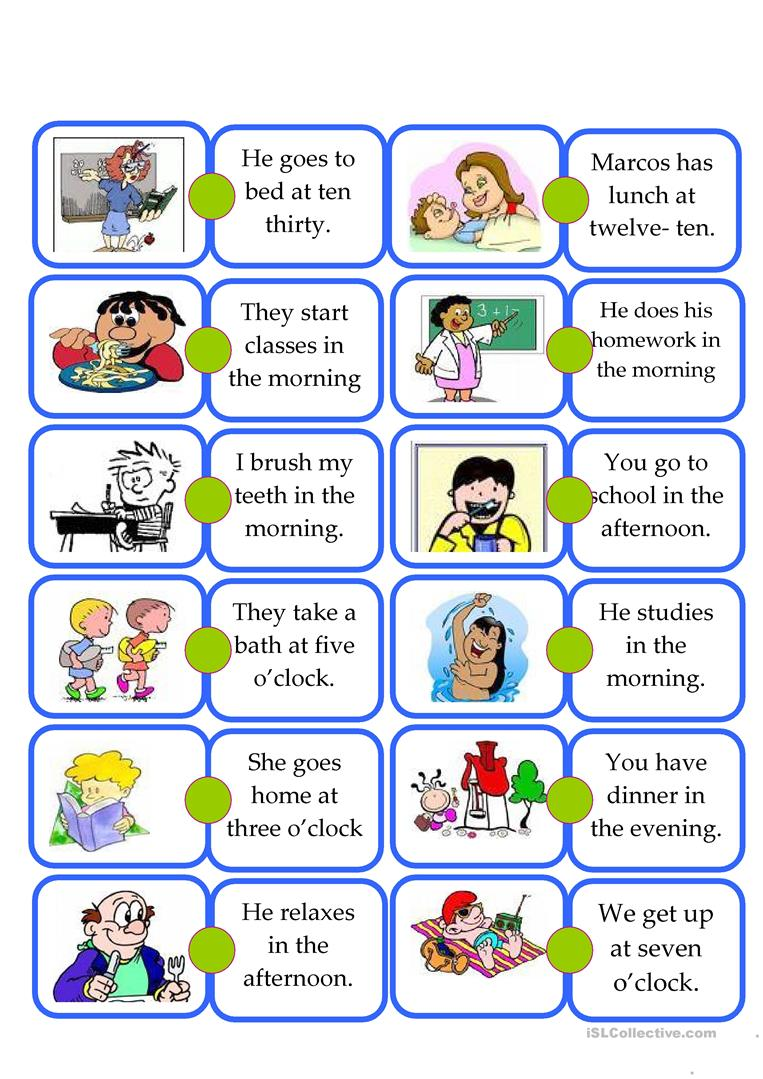 947 Free Esl Daily Routines Worksheets