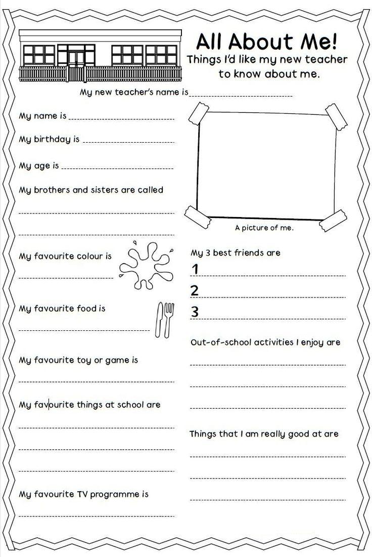 9 Best Personal Information Images On Worksheets Samples