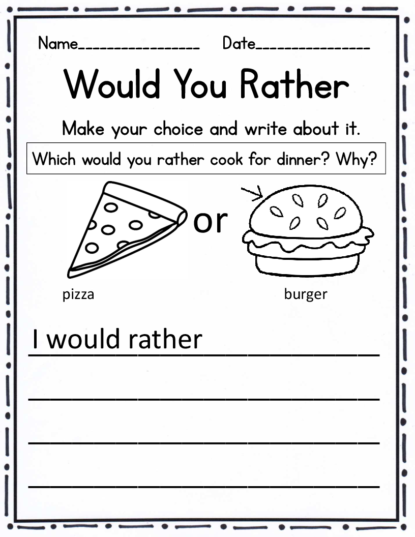 6th grade writing prompts worksheets