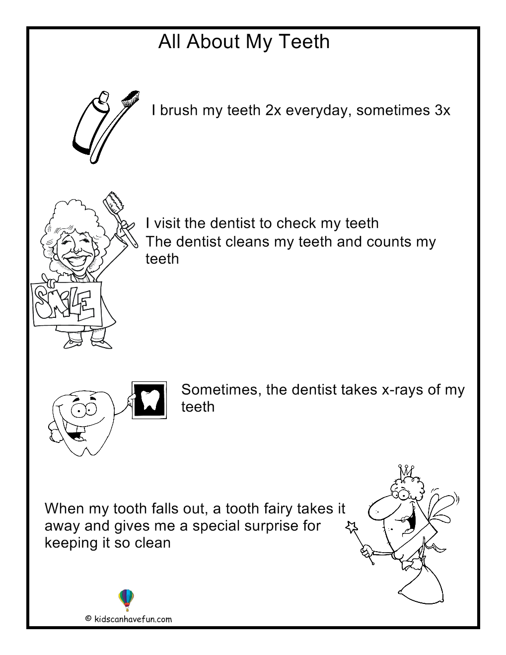 About My Teeth Poster For Kids