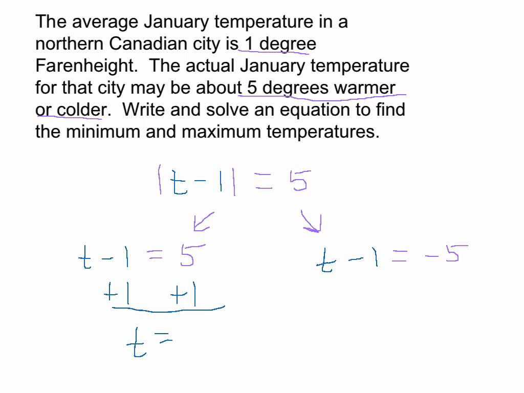 Absolute Value Word Problem